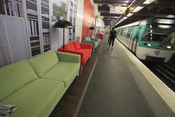 El-metro-de-París-con-muebles-de-Ikea